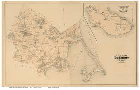 Ma Map Duxbury And Powder Point Village Massachusetts 1879 Old Town Map