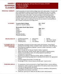 Resume Sample For Cleaner by Sample Cleaning Resume Doc 9181188 Essay House Cleaner Resume
