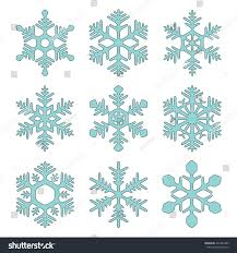 snowflake icons set sketch style vector stock vector 241983343