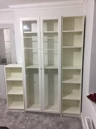 doors billy bookcase u0026 this is three white billy bookcases from