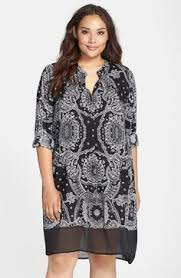 karen kane v neck t shirt dress plus size available at
