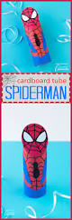cardboard tube spiderman the perfect kids craft for imaginative play