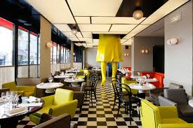 interior design restaurant interior design with artistic ornament
