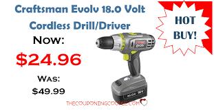 best black friday deals on craftsman drill craftsman evolv 18v cordless drill driver only 24 96