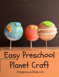 easy preschool planet craft
