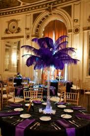 Centerpiece With Feathers by Crystal Chandelier Light Up Centerpiece With Feathers At The Top
