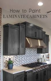 Painted Laminate Kitchen Cabinets Bathroom Update How To Paint Laminate Cabinets Laminate