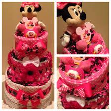 baby minnie mouse diaper cake pink minnie diaper cake