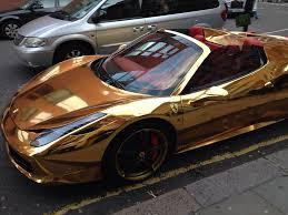 car ferrari gold gold plated ferrari pic i am bored