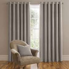 Lined Grey Curtains Dorma Lymington Grey Lined Eyelet Curtains Dunelm