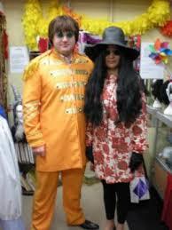 1960 Halloween Costumes Buy John Lennon Yoko Ono Costume 2 Costume Musicians