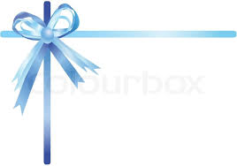 white blue ribbon blue ribbon isolated on a white background vector illustration