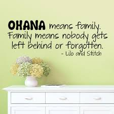 ohana means family wall sticker quotes vinyl wall decal art mural
