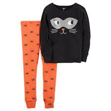 carter u0027s halloween cat top u0026 bottoms pajama set