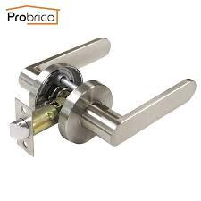 interior door handles for homes probrico stainless steel passage keyless door lock dl8606snps satin