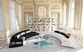 Curved White Sofa by Furniture Interesting Roche Bobois Furniture With Contemporary