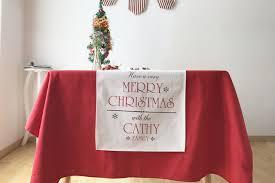 christmas cotton table runner table cloth restaurant cafe