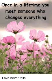 That Changes Everything Meme - once in a lifetime you meet someone who changes everything fblove