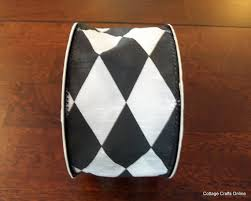 black and white wired ribbon harlequin wired ribbon 2 1 2 wide black and white faux silk