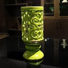 floor vases home decor green ceramic hollow flowers vase home decor large floor vases for