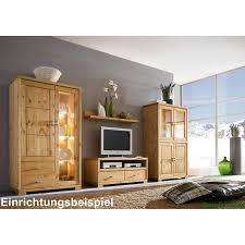 Wohnzimmer Vitrinenschrank Vitrinenschrank Kiefer Massiv Weiß Lasiert Vitrine Guldborg