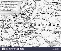 Map Eastern Europe Map Of Eastern Europe German Soviet Border 1940 Stock Photo
