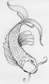 drawn koi pretty fish pencil and in color drawn koi pretty fish