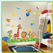 stickers jungle chambre bébé wall stickers jungle giraffe zoo owl tree nursery baby