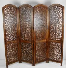 4 panel heavy duty indian screen wooden screen divider kashmeri