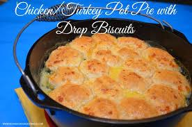 how to make chicken pot pie garlic drop biscuits