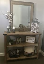entry way table decor modified ana whites rustic x console table and used minwax classic