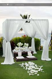 Pergola Wedding Decorations by Best 25 White Wedding Arch Ideas On Pinterest Wedding Arch