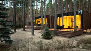 yod design lab u0027s modern cabins mirror the forest in ukraine youtube