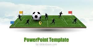 3d soccer pitch powerpoint template slidesbase