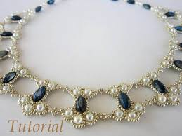 pdf tutorial lace beaded necklace seed bead pearl by beadsmadness
