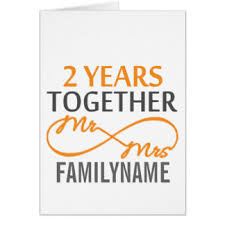 2nd anniversary cards invitations greeting photo cards zazzle