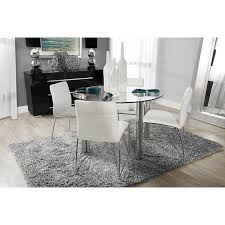 Dining Room Set With Upholstered Chairs by Napoli White Round Table U0026 4 Chairs