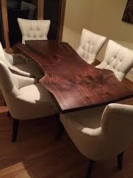 Black Walnut Dining Chairs Dining Tables Figured Black Walnut Lumber Live Edge Furniture
