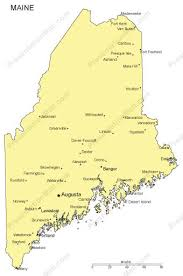 map of maine cities maine powerpoint map major cities