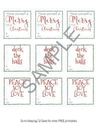 fun printable christmas gift tags keeping life sane