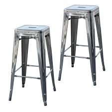silver metal bar table silver metal bar stools 30 inch with backs decoreven