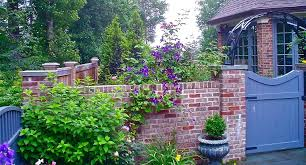 Garden Brick Wall Design Ideas Garden Brick Wall Design Ideas Landscape Eclectic With Wall Garden