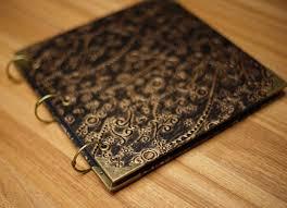 embossed photo album pu leather waterproof scrapbook hearts floral vine embossed