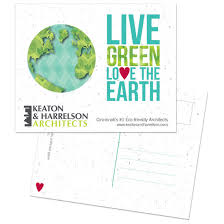 the earth personalized plantable postcard earth day