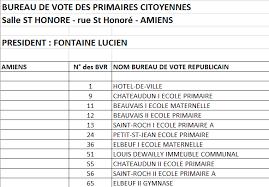 bureau de vote 12 primaires citoyennes où voter à amiens amiens socialiste