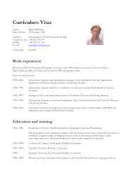 Sample Nursing Curriculum Vitae Templates Francais Curriculum Vitae Template Homejobplacements Org