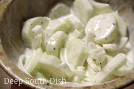 deep south dish sour cream cucumber and onion salad