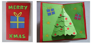3d christmas cards pop up christmas tree card tutorial for kids imagine forest