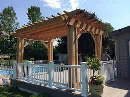 Pergola System by Oconomowoc Village Of Summit Azek Deck And Cedar Pergola
