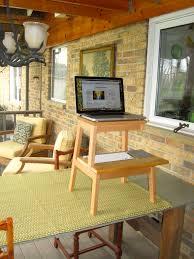 portable standing desk saw right upper leg off ikea bekvam